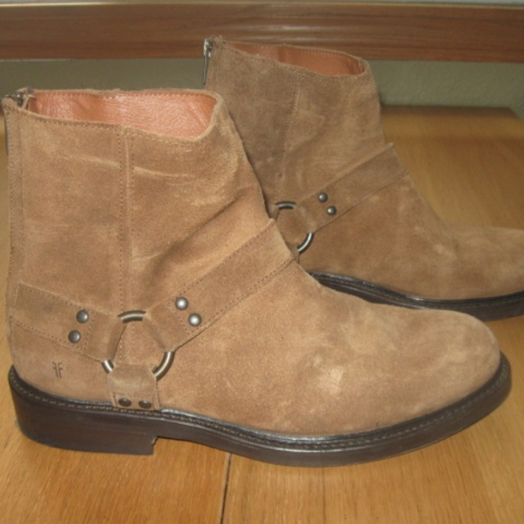 Frye Other - Mens Frye Walt Harness Fatigue Waxed Suede Boots
